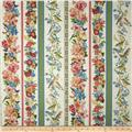 Nature's Song Birds and Flowers Decorative Stripe Summer