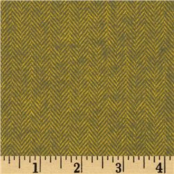 Primo Plaids Harvest Flannel Herringbone Green