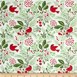 Moda Jingle Birds & Berries Snow