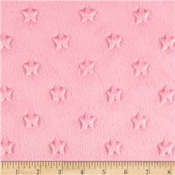 Minky Star Dot Rose Pink