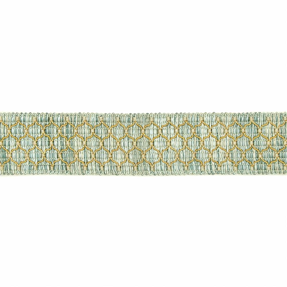 "Decorative Trim 2"" Braid Aqua"
