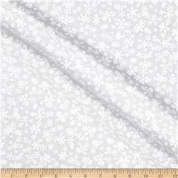 Essentials Snowflakes Tonal White