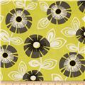 Michael Miller Pastel Pop Citron Grey Regina Citron