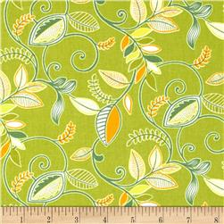 Gramercy Medium Floral Green Fabric