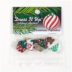 Dress It Up Embellishment Christmas Cupcakes