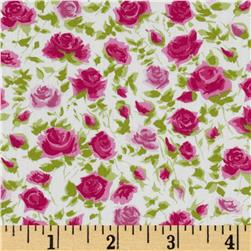 Liberty of London Tana Lawn Ricardos Blooms White/Fuchsia