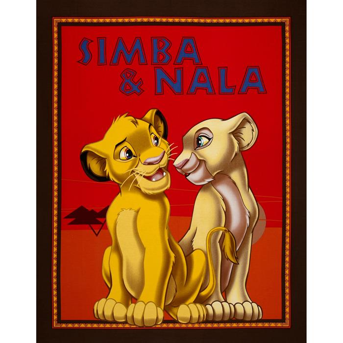 Disney Lion King Simba & Nala 36'' Panel Brown