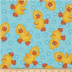 Flannel Tossed Ducks Blue
