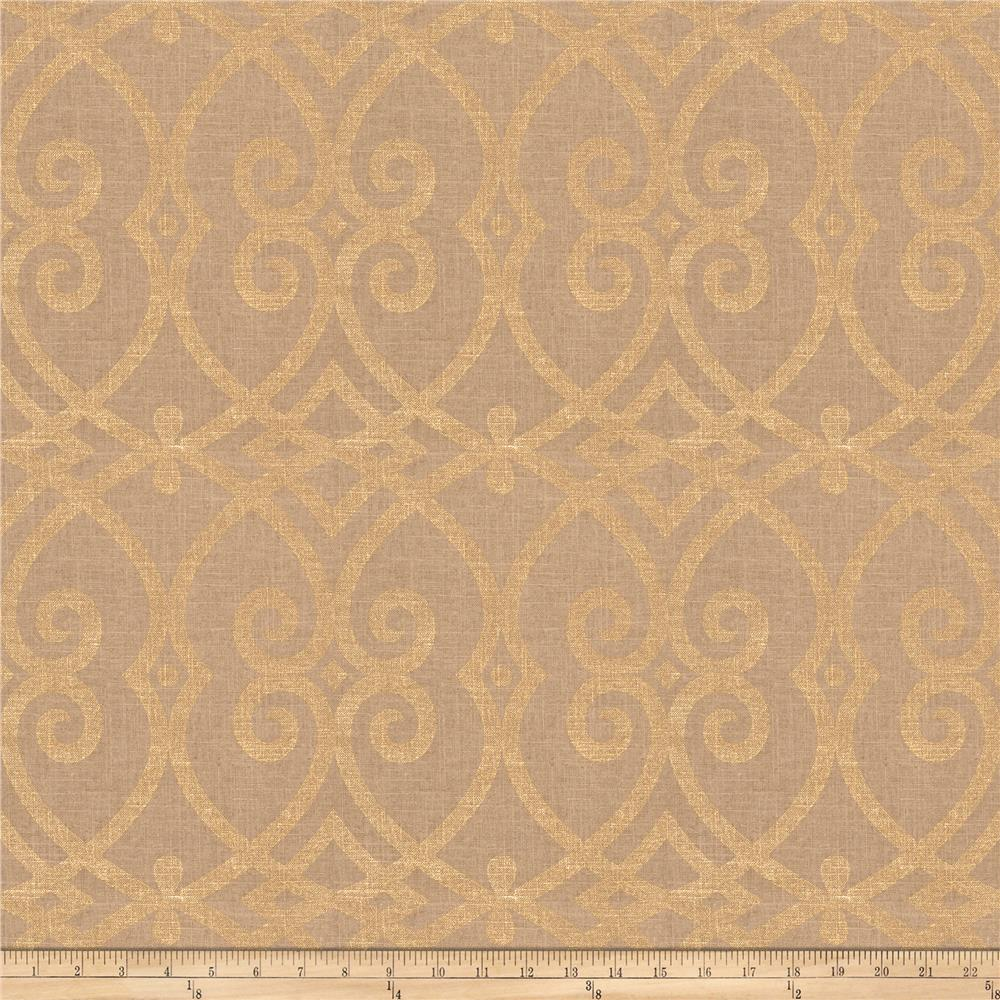 Jaclyn Smith 03730 Metallic Linen Gold