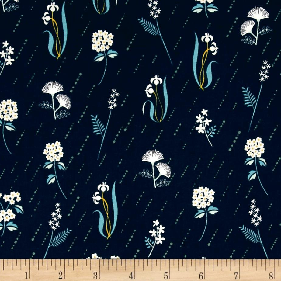 Cotton + Steel Raindrop In Bloom Night