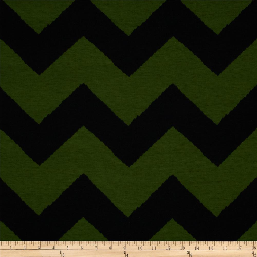 Fashionista Jersey Knit Large Chevron Green/Black