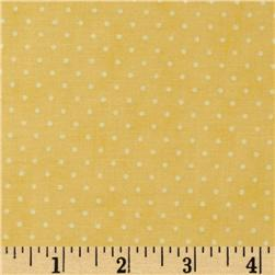 Moda Essential Dots (# 8654-20) Yellow Fabric