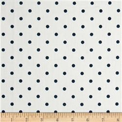 Premier Prints Mini Dots Twill White/Premier Navy