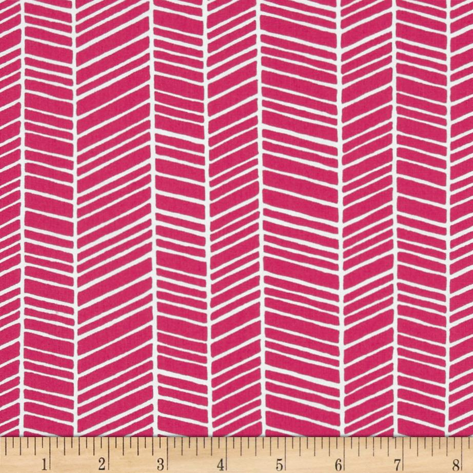 Joel dewberry true colors herringbone pink discount for Modern fabrics textiles