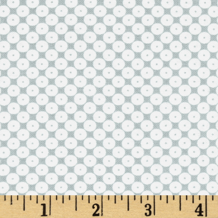 Dots Right Sequin Dot White/Grey Fabric