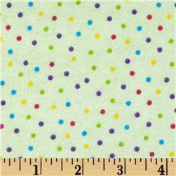 Flannel Mini Dots Mint Fabric