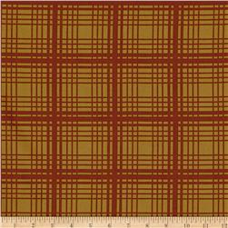 Moda Adventures Plaid Rust
