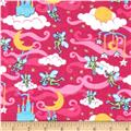 Flannel Prints Elves Pink