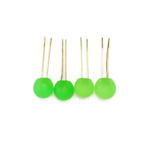 Tiny Matte Resin Ball Handbag Feet Green 4/pkg