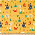 Happy Camper Flannel Camping Trip Orange