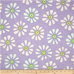 Moda Bandana Flower Child Happy Purple