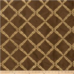 Lillian August Maypole Embroidered Taffeta Chocolate