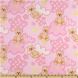 WinterFleece Baby Teddy Pink Fabric