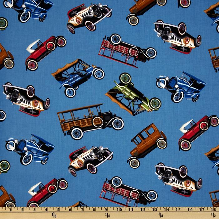 Antique Cars Blue