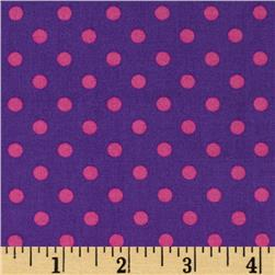 Michael Miller Dumb Dot Orchid Princess Pink Fabric