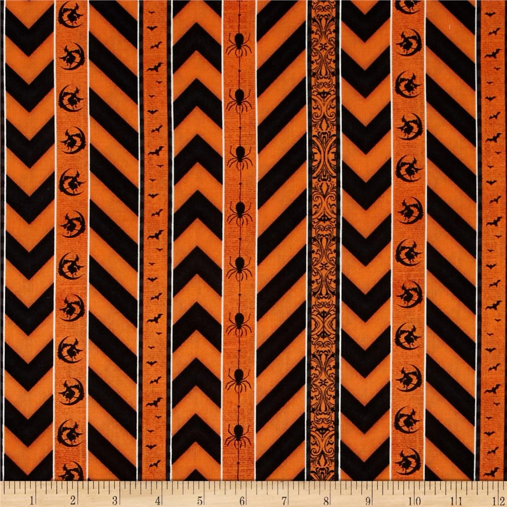 Something Wicked Ticking Stripe Orange