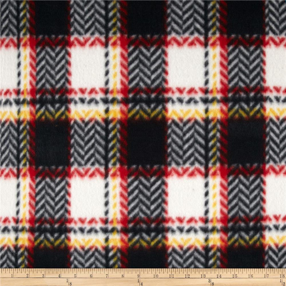 Polar Fleece Prints Chevron Black/White/Red