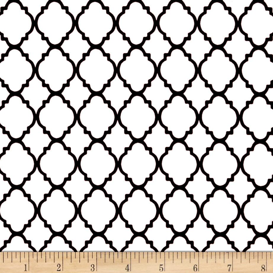 Quatrefoil White/Black