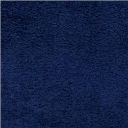 Whisper Coral Fleece Solid Navy Fabric