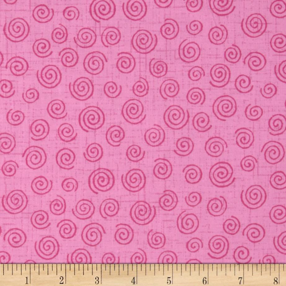 "110"" Wide Quilt Backing Swirl Pink"