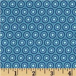 Splash Radial Dot Blue Fabric