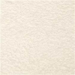 Whisper Coral Fleece Solid Ivory Fabric