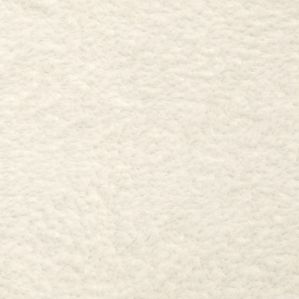 Whisper Coral Fleece Solid Ivory Fabric by Newcastle in USA