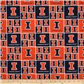 Collegiate Cotton Broadcloth University of Illinois Orange