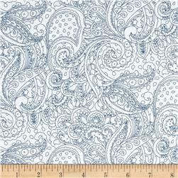 Cypress Paisley Toile White/Navy
