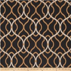 Fabricut 50094w Passa Ogee Wallpaper Onyx 05 (Double Roll)