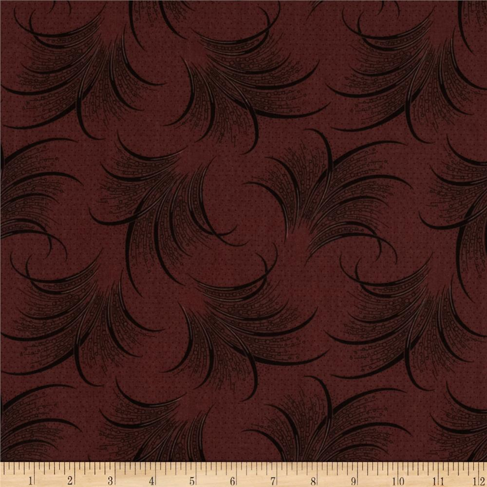 Downton Abbey Lady Mary Feather Print Red