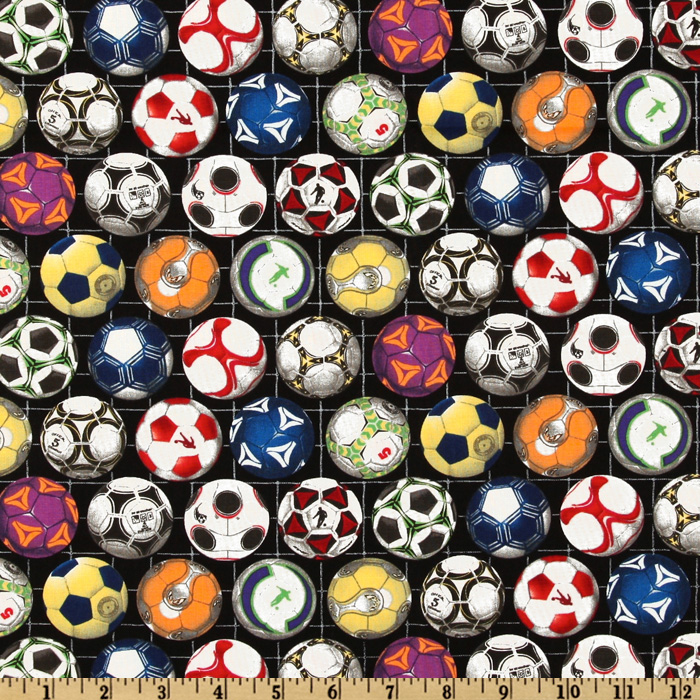 INOpets.com Anything for Pets Parents & Their Pets Sports Collection Soccer Balls Black Fabric