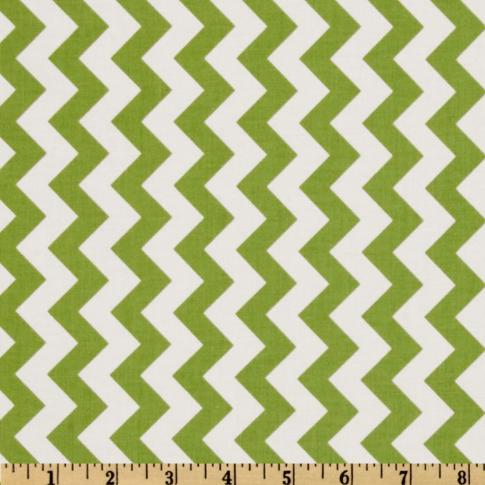 Riley Blake Chevron Small Green Fabric