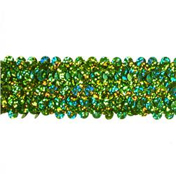 "1 1/2"" Stretch Starlight Sequin Trim Lime"