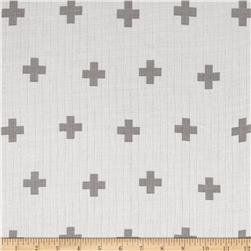 Riley Blake Double Gauze Grey Plus
