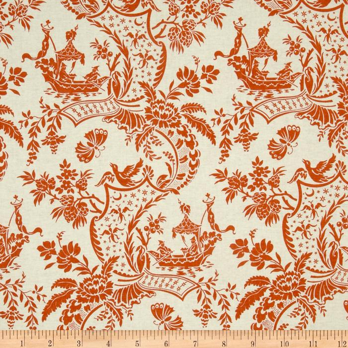 Chinoiserie Toile Orange