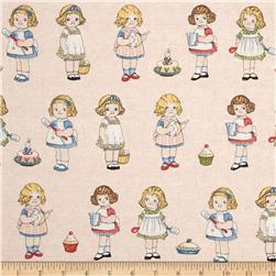 Penny Rose Paper Dolls Bakery Paper Dolls Background Pink