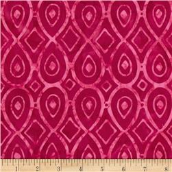 Tonga Batik Mocha Kiss Tear Drop Ruby