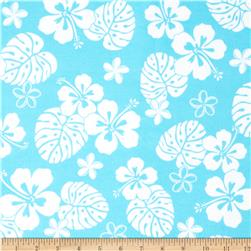 Aloha Flannel Tropical Floral Surf