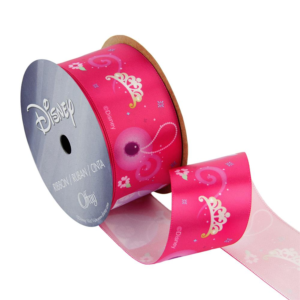 1 1/2'' Sofia The First Ribbon Icons Pink